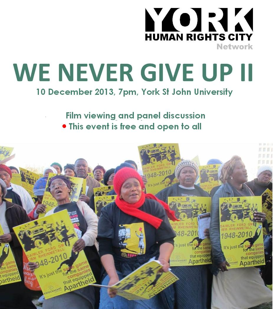 We Never Give Up poster